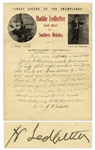 Scarce Huddie Lead Belly Ledbetter Autograph Letter Signed, Circa Early 1940s -- ...am in a tuff spot right now but Im trying all I can to get a $1000 dollars...