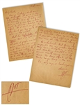 Hunter S. Thompson Autograph Letter Signed -- ...all sorts of people are after me - police, creditors, ins. companies...