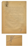 Hunter S. Thompson Letter Signed HST From 1960 While Living in San Juan -- ...Lightning-quick Thompsonesque coup shatters dwelling barrier!...