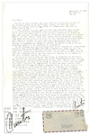 Hunter S. Thompson Letter Signed Hunter From 1958 -- ...The mind of America# is seized by a fatal dry rot...Is it any wonder that Billy Graham is so popular?...