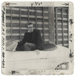 James Dean Unpublished Photograph in His Porsche Speedster, Taken Shortly Before His Death