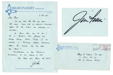 Jim Irwin Autograph Letter Signed From High Flight Foundation -- ...Your friend from beyond the Earth...