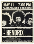 Jimi Hendrix Experience Concert Handbill -- For the 11 May 1969 Concert in Indianapolis
