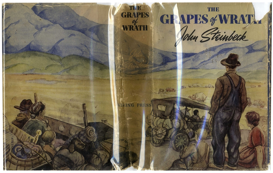 John Steinbeck's ''The Grapes of Wrath'' First Printing -- In First Printing Dust Jacket
