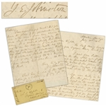General Joseph Johnston Autograph Letter Signed From July 1862 While Recovering From His Wounds After Being Replaced by Lee -- ...I am very anxious to know what to expect on rejoining the army...