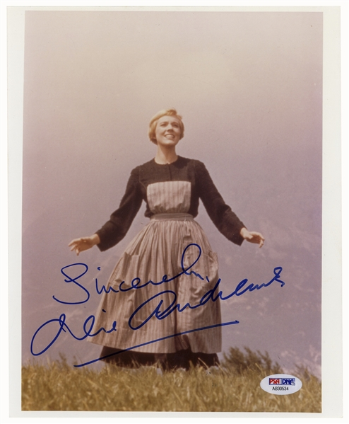 Julie Andrews Signed 8'' x 10'' Photo From ''The Sound of Music'' -- PSA/DNA Certified