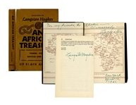Langston Hughes Twice-Signed Copy of An African Treasury -- Writings Selected by Hughes by Black Africans