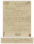 Laura Ingalls Wilder Autograph Letter Signed -- ...I miss the old days very much sometimes...