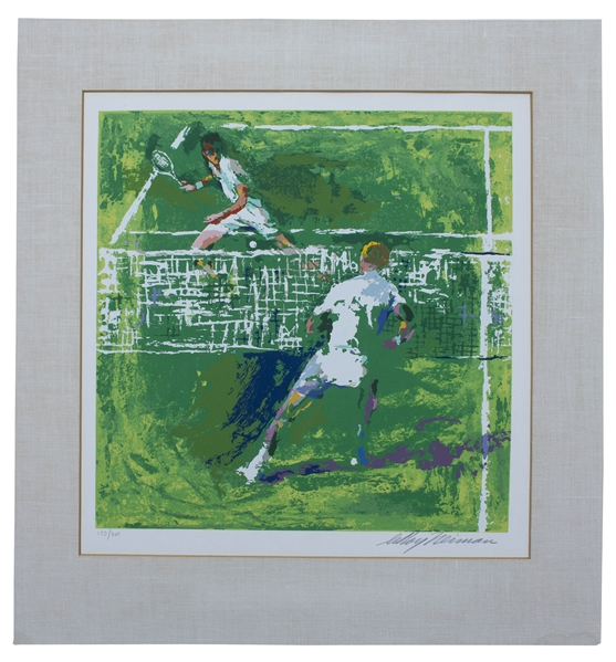 LeRoy Neiman Signed Limited Edition Silkscreen of ''Tennis Players''