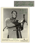 Louis Armstrong Signed 8 x 10 Photo -- Signed Both as Louis Armstrong & With His Nickname Satchmo