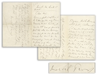 Marcel Proust Autograph Letter Signed -- ...All I could do was, with a certain melancholy, take my novels manuscript back from this publisher where I had previously been more pampered...