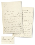 Marcel Proust Autograph Letter Signed, Circa 1911, Giving Generous Praise to a Fellow Writer -- ...how lovely this is!  It constantly makes you laugh, sometimes cry...