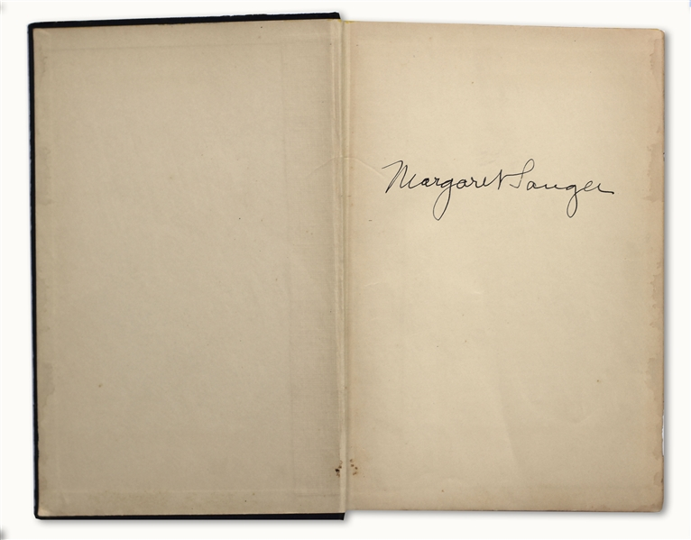 Margaret Sanger Signed Copy of Her Book, ''My Fight for Birth Control''