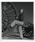 Original 1945 Photograph of Marilyn Monroe Taken by Andre de Dienes, With de Dienes Backstamp -- Measures 9.5 x 11.25