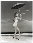 Original 1949 Photograph of Marilyn Monroe Taken by Andre de Dienes -- With de Dienes Backstamp -- Large Format Photo Measures 10.75 x 13.75