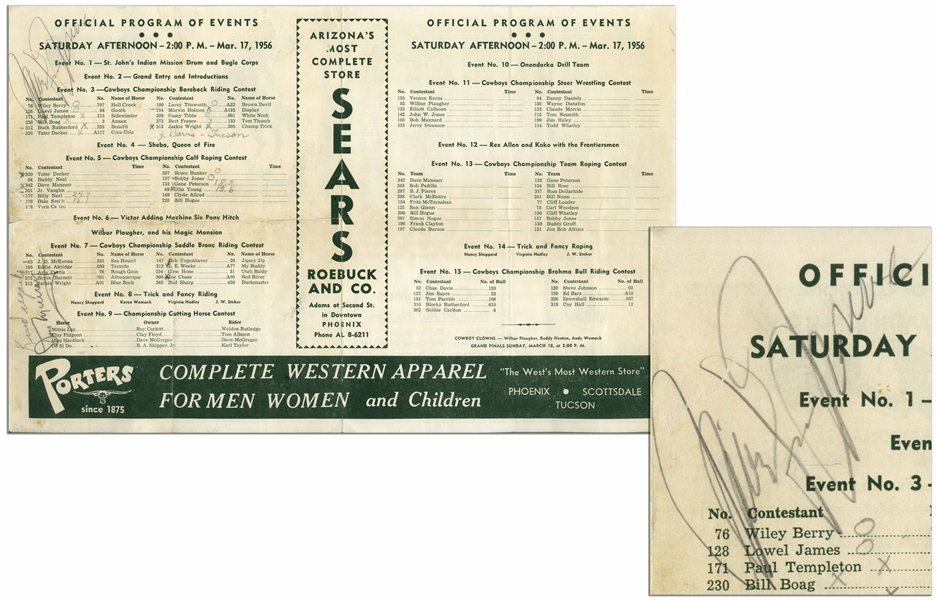Marilyn Monroe Signed Rodeo Program, Obtained During the Filming of ''Bus Stop'' -- With University Archives COA