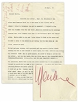 Marlene Dietrich Letter Signed, With Autograph Note, on Her Relationship with Erich Remarque, and that bitch [Paulette] Goddard, Remarques Widow
