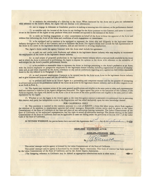 Marlene Dietrich Contract Signed