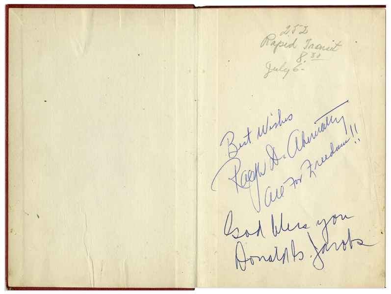 Martin Luther King Jr. Signed Book The Greatest Thing in the World