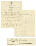 Mata Hari Autograph Letter Signed to Her Lover, Piet van der Hem -- ...Want to come and talk to me a little at 9 pm?...