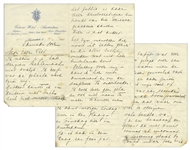 Mata Hari Autograph Letter to Her Lover, Piet van der Hem -- ...When you have Paris and Vienna etc. like me, then the Dutch can not do me much harm...