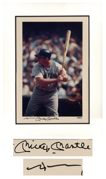 Mickey Mantle Signed 16'' x 20'' Limited Edition Photo -- With Upper Deck COA