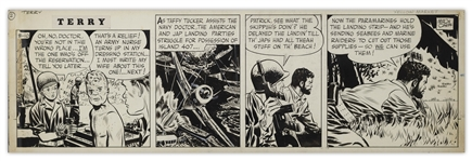 Terry and the Pirates Original Comic Strip by Milton Caniff From 1943