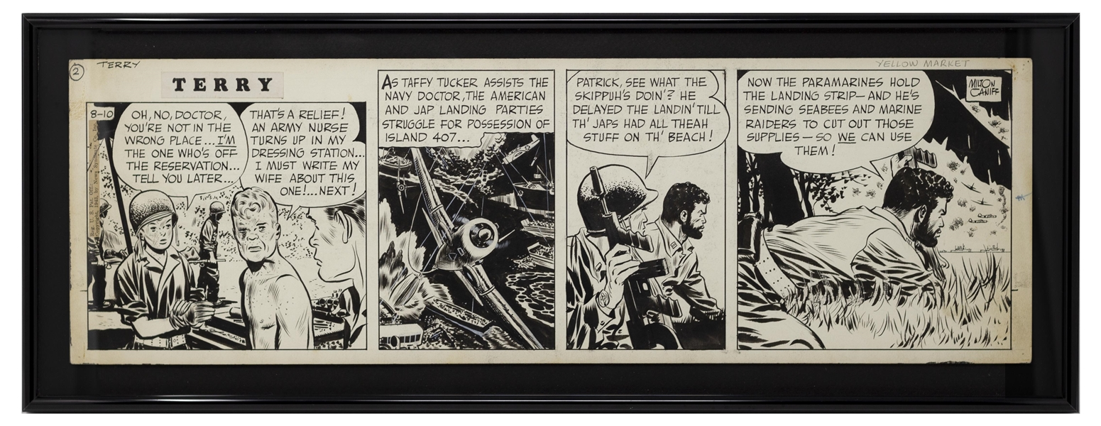 ''Terry and the Pirates'' Original Comic Strip by Milton Caniff From 1943