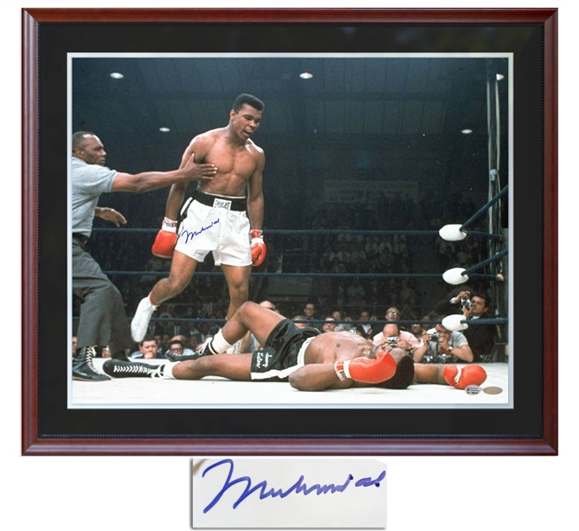 Muhammad Ali Signed 24'' x 30'' Photo -- With Steiner COA