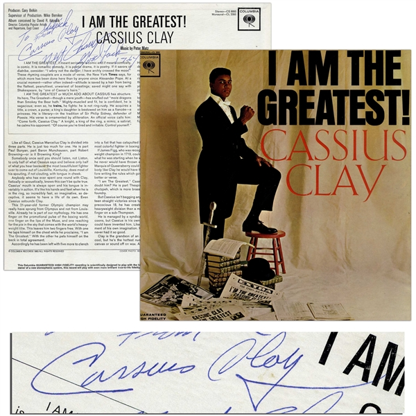 Cassius Clay Signed Album ''I Am the Greatest!'' -- With JSA COA