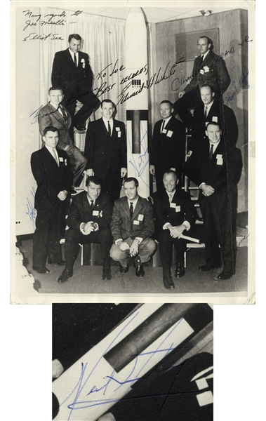 ''The New Nine'' Signed Photo -- Signed by Ed White, Elliot See, Neil Armstrong & Six Others, Comprising Astronaut Group 2 -- With PSA/DNA COA