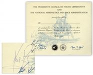 Neil Armstrong Signed Certificate for Footsteps on the Moon