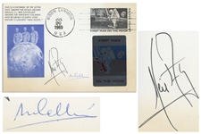 Neil Armstrong & Michael Collins Signed First Day Cover Measuring 9 x 6