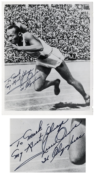 Olympic Track & Field Hero Jesse Owens 8'' x 10'' Signed Photo