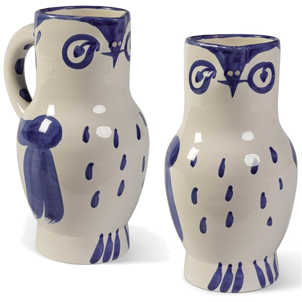 Pablo Picasso ''Hibou'', Number 253 -- Ceramic Owl Pitcher Created at the Madoura Pottery Studios