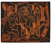 Pablo Picasso Le Dejeuner Sur Lherbe (Lunch on the Grass), No. 517 -- Stunning Plaque Created at Madoura Pottery Studios Measures 24 x 20 in Classic Picasso Style -- Picassos Artist...