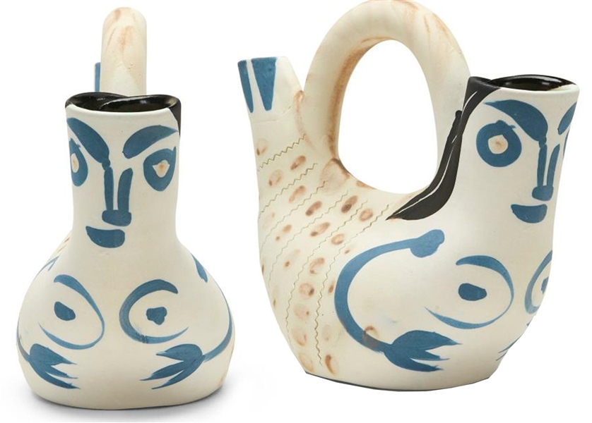 Pablo Picasso ''Figure de Proue'', Number 136 -- Vase Created at the Madoura Pottery Studios