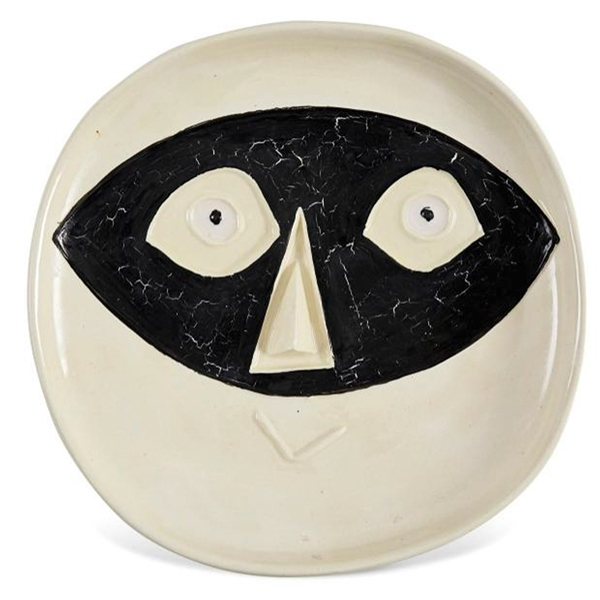 Pablo Picasso ''Tete au Masque'', Number 362 -- Dramatic & Playful Ceramic Created at the Madoura Pottery Studios