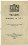 White Paper of 1939 -- Original Printing of the Controversial British Policy Towards Palestine From 1939, After the Failed London Conference, to 1948 When Britain Deferred to the United Nations