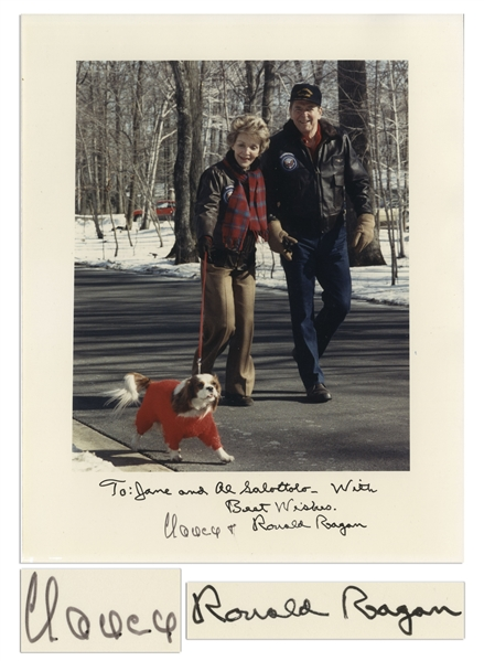 Ronald and Nancy Reagan Signed 8'' x 10'' Photo -- With JSA COA