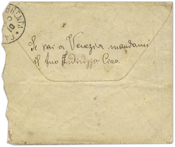Rudolph Valentino Autograph Letter Signed With His Real Name ''Rodolfo'' -- ''...I'm sending you my photograph with this letter, and I hope you'll send me one of you as soon as you get one taken...''