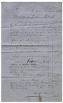 New Orleans Slave Receipt From 1853 -- Disturbing Bill of Sale From a Slave Auction at the St. Louis Exchange Hotel Itemizes Several Slaves With Purchase Price, Signed by the Auctioneer