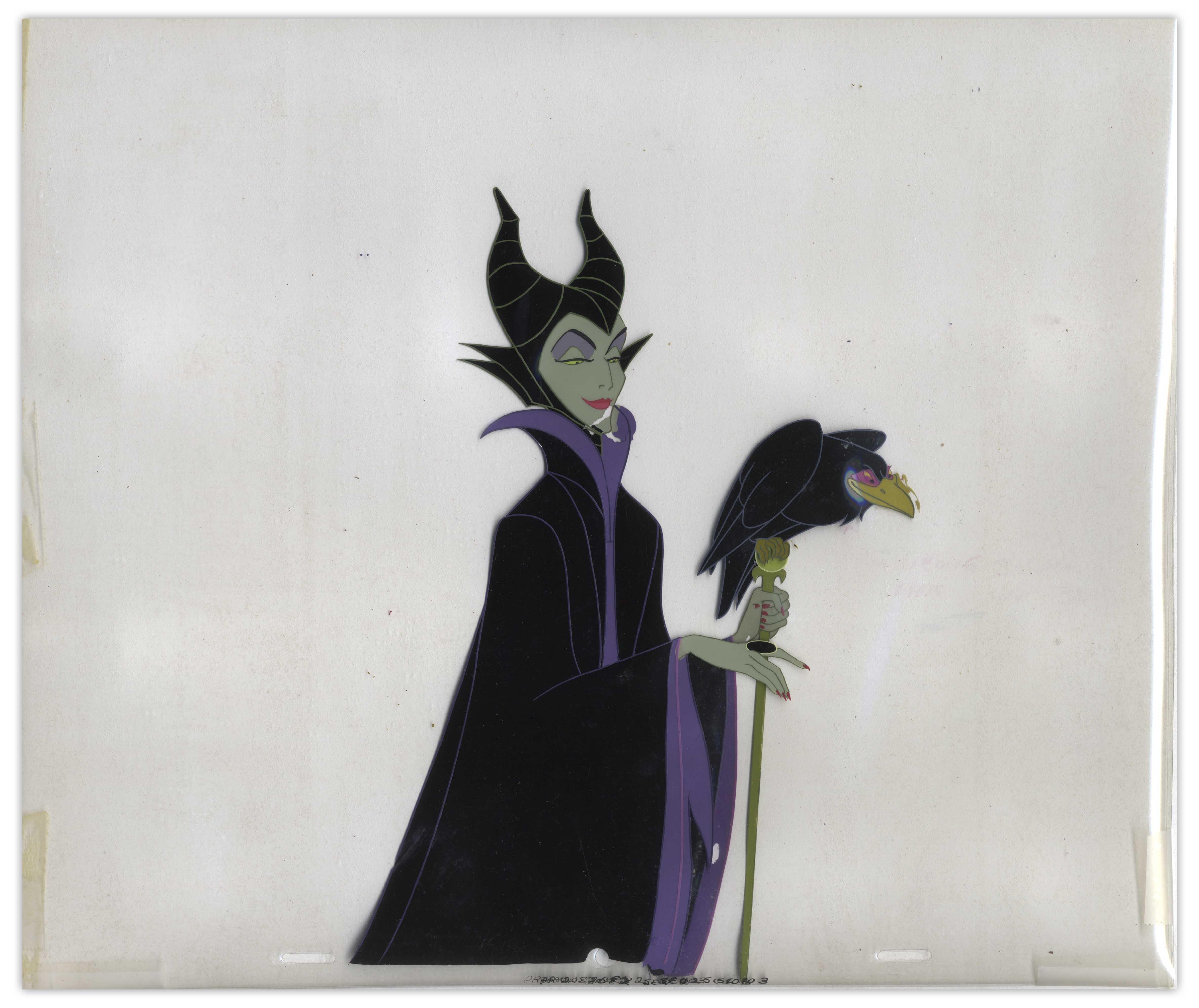 Lot Detail Disney Animation Cels Of Maleficent Diablo