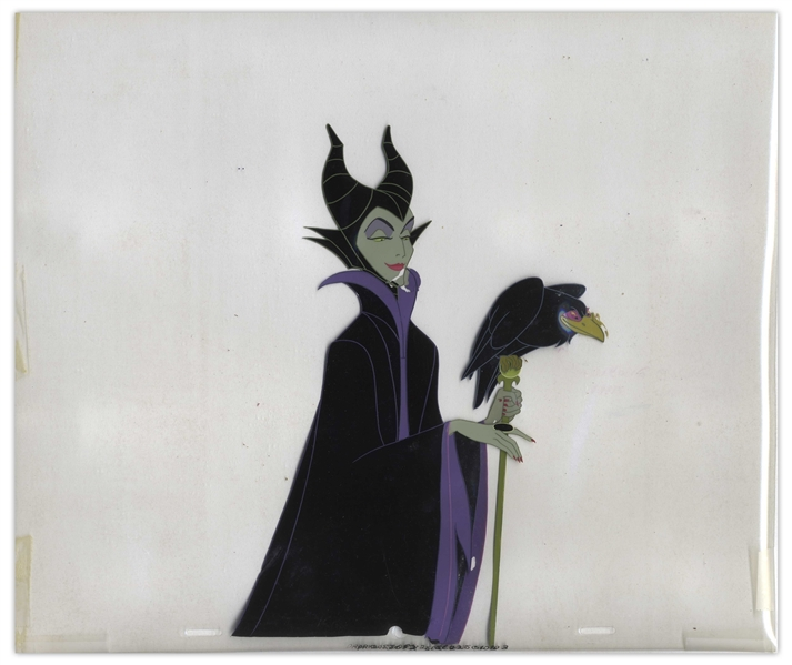 Disney Animation Cels of Maleficent & Diablo From ''Sleeping Beauty''