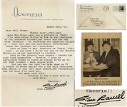 Stan Laurel Letter Signed -- ...Did you see the Dick Van Dyke show on TV a couple of weeks ago, he did a L&H skit (enclosed news photo) it was very good indeed...
