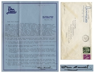 Stan Laurel Letter Signed -- ...The last film Hardy ever appeared in was titled UTOPIA the one we made in France in 1950 - should have been title the Fiasco...