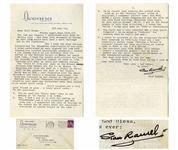 Stan Laurel Letter Signed -- ...Hardy wasnt Mad - just disgusted with the whole affair, it was really a shocking experience...