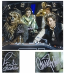 Carrie Fisher & Chewbaccas Peter Mayhew Signed 20 x 16 Photo From Star Wars -- With Steiner COA