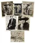 Lot of 5 Tex Ritter Signed Photos & Show Ticket From 1962