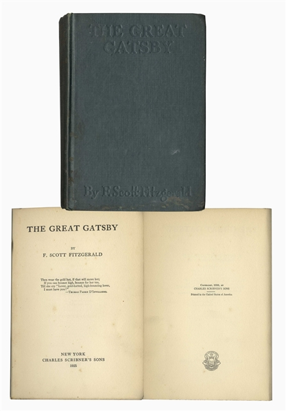 First Edition, First Printing of ''The Great Gatsby''